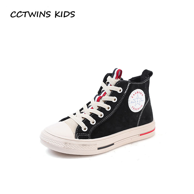 CCTWINS KIDS 2018 Winter Baby Boy Fashion Sport Shoe Girl Brand Warm High Top Sneaker Children Genuine Leather Trainer FH2313 cctwins kids 2017 spring high top usb rechargeable lighted girl brand trainer baby boy shoe led children fashion sneaker f1312