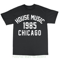 House Music Chicago 1985 T Shirt 100 Cotton Frankie Knuckles Larry Levan