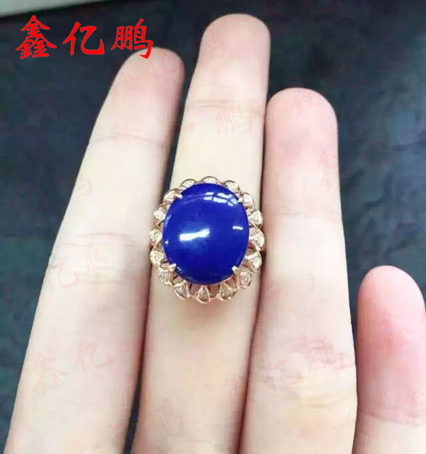 925 sterling silver with natural lapis ring female925 sterling silver with natural lapis ring female