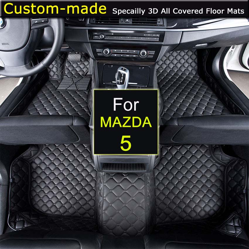 Car Floor Mats for MAZDA 5 5/7 Seats Customized Foot Rugs 3D Auto Carpets Custom-made Specially for Mazda 2 /3/5/6 custom car floor mats for mazda all models cx5 cx7 cx9 mx5 atenza mazda 2 3 5 6 8 auto accessories car styling