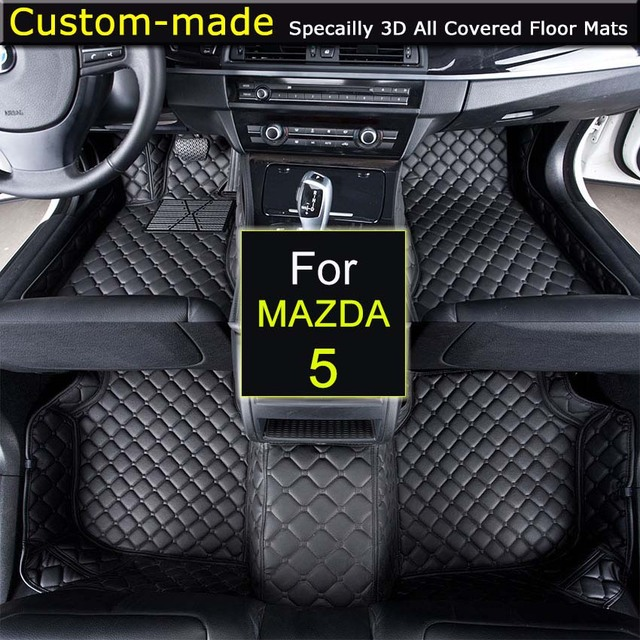 Car Floor Mats For MAZDA 5 5/7 Seats Customized Foot Rugs 3D Auto Carpets