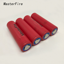 MasterFire 10pcs/lot New Genuine Sanyo 18650 NCR18650GA 3.7V 3500mAh Rechargeable Battery Lithium Batteries 10A Discharge