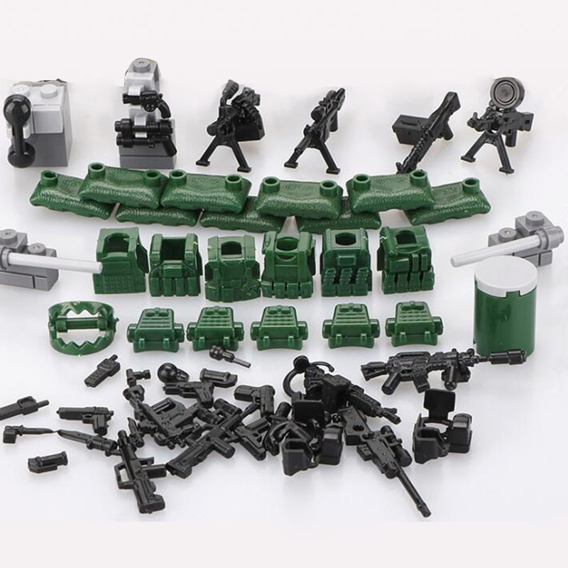 Legoes SWAT Figurines Military Mini Figurines City Super Police Mini Weapons Gun Set Building Blocks Building Toy For Children