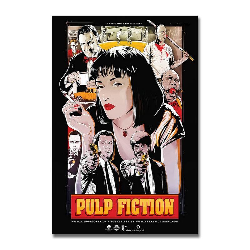 Pulp Fiction Classic Movie Art Silk Poster 12x18 24x36 24x43
