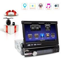 """7 """"Uniwersalny 1 Din Car Audio Odtwarzacz DVD + Radio + + Nawigacja GPS Autorádio + Radio + Bluetooth + PC + DVD Automotivo + SD USB RDS Aux"""