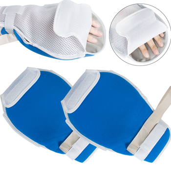 1 Pair Control Mitts Medical Restraints Patient Hand Infection Protectors Padded Safety Universal Fixed Open Finger Gloves Brace