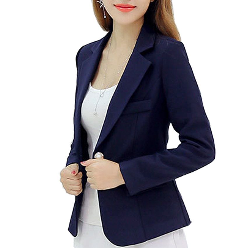 New Long-sleeved Slim Women Blazers And Jackets Small Women Suit Korean Version (Gray/Blue/Wine ...