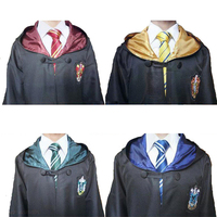 Harry Robe Cloak With Tie Ravenclaw Gryffindor Hufflepuff Slytherin Harri Potter Cosplay Costumefor Adult Kids