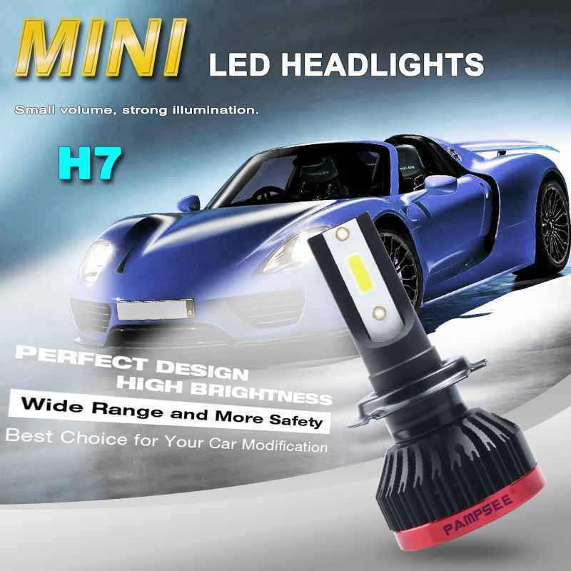 PAMPSEE h7 led h4 led bulb h1 led lamp for auto h11 car headlight 12V motorcycle light hb4 9006 Car Accessories hb3 9005 6000K