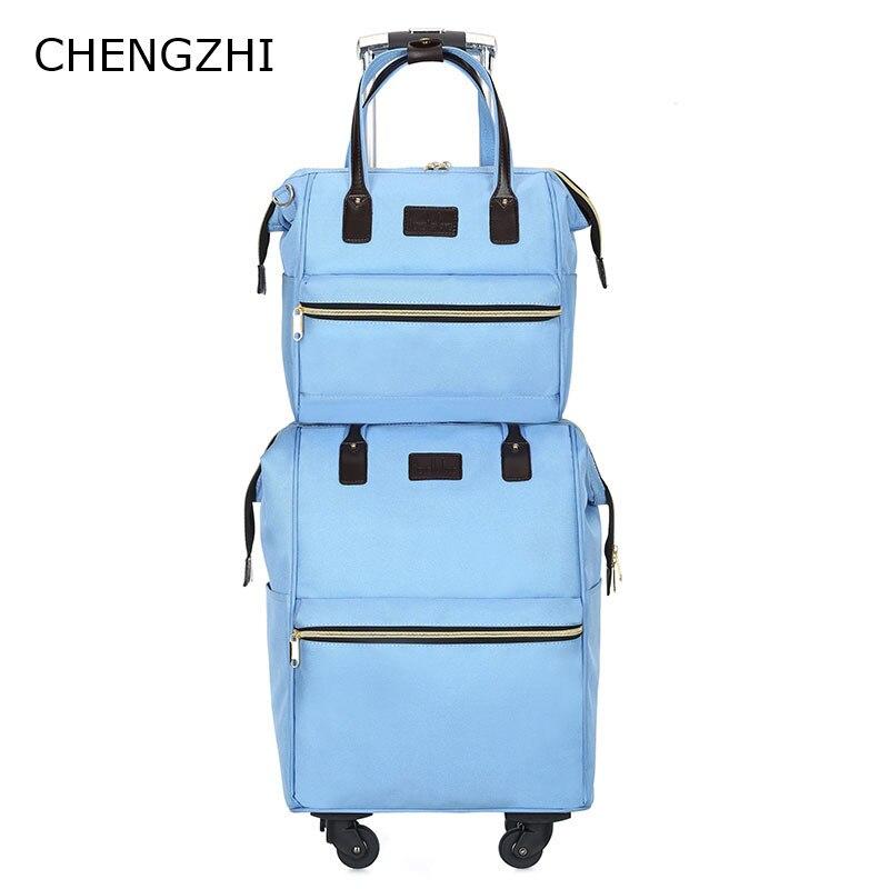 Letrend, 3D, красочные, на колёсиках, для женщин, розовое золото, чемоданы, колеса, для каюты, тележка, дорожная сумка, 20/24 дюймов, для переноски, для... - 5