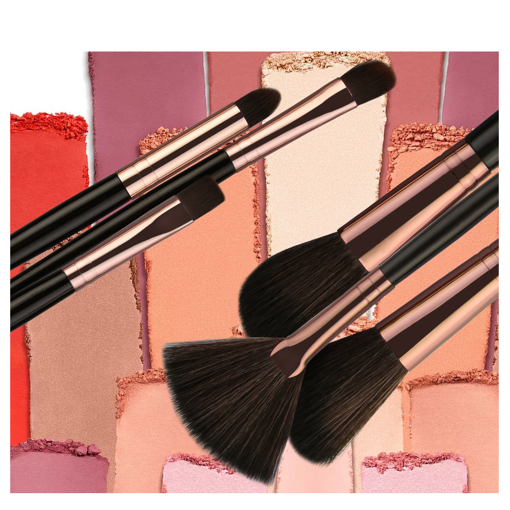 shop MAANGE 6/15/18Pcs Makeup Brushes Tool Set Cosmetic Powder Eye Shadow Foundation Blush Blending Beauty Make Up Brush with crypto, pay with bitcoin