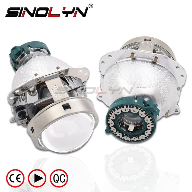US $51 19 36% OFF|EVOX R V2 0 D2S Bi xenon Projector Lens Headlight Replace  For BMW E60 E39 X5 E53/Audi A6 C5 C6 A8/Mercedes Benz W211 209/Octavia-in