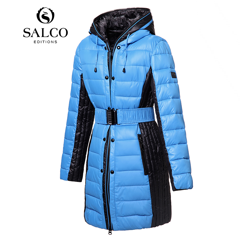 ФОТО SALCO Free shipping 2016 new European and American classic salad hit Ms. hooded padded jacket