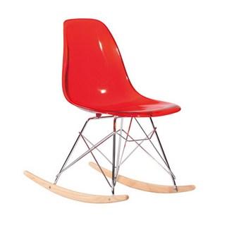 Nowoczesne plastikowe fotel bujany Przezroczyste plastikowe akrylowe fotel bujany z tworzywa sztucznego fotel bujany nowoczesny design jasne fotel bujany tanie i dobre opinie Meble do salonu Salon krzesło Meble do domu Minimalistyczny nowoczesny Rozrywka krzesło stenzhorn Y-018R 69 5*46 5*78cm