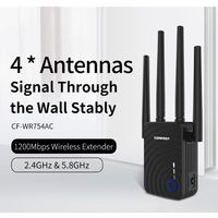 Comfast CF WR754AC 1200Mbps Wireless Wifi extender Wifi Repeater/Router Dual Band 2.4&5.8Ghz 4 Wifi Antenna long Range Signal