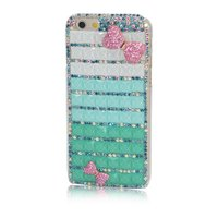 Sparkling Cube Diamond Case For IPhone 5s 6 4 7 6Plus 5 5 Case Pink Bow