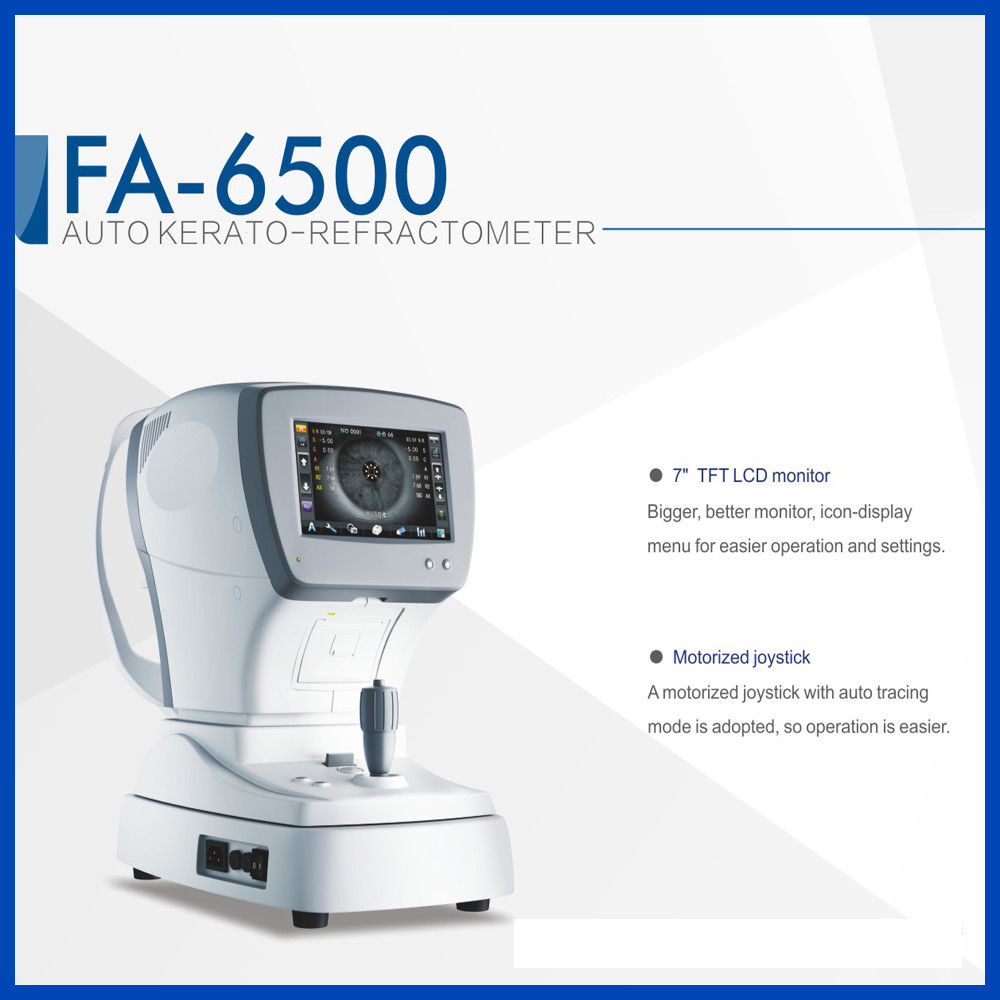 Free shipping High Quality FA 6500K Auto Refractometer Keratometer FDA
