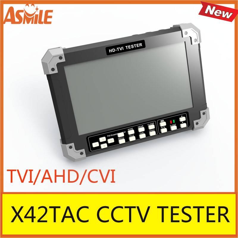 7 Inch TVI AHD CVI Camera Tester CCTV Tester Monitor CVI2.0 AHD2.0 1080P Camera Testing VGA HDMI Input 12V Ouput X42TAC