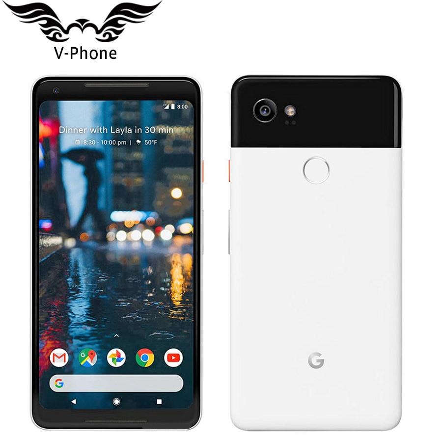 Offre Spéciale L'UE Version Android Mobile Téléphone Google Pixel 2 XL 6 Snapdragon 835 Octa Core 4g LTE 4 gb RAM 64 gb 128 gb ROM D'empreintes Digitales