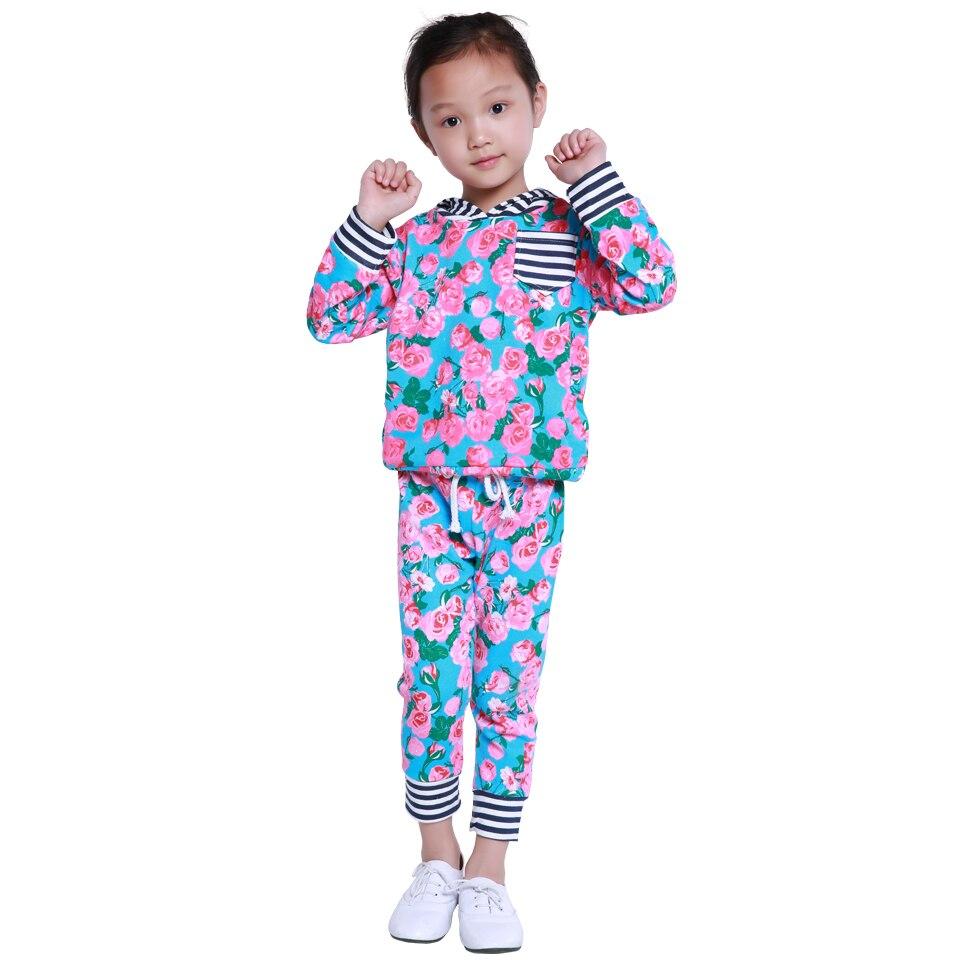 Baby Girls Floral Stripe Hoodie Sweatpants Sets Boys Hoodies Sets Kids Autumn Clothing Sets ...