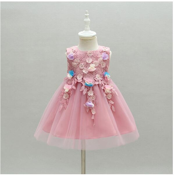 Baby Girls Pageant Formal Dresses 2017 Lace Flowers Gown Infant Girls Princess Tutu Dress Gauze Kids Birthday Wedding Dresses baby girls pageant formal dresses 2017 flowers vest satin infant girls princess tutu dress gauze kids birthday wedding dresses