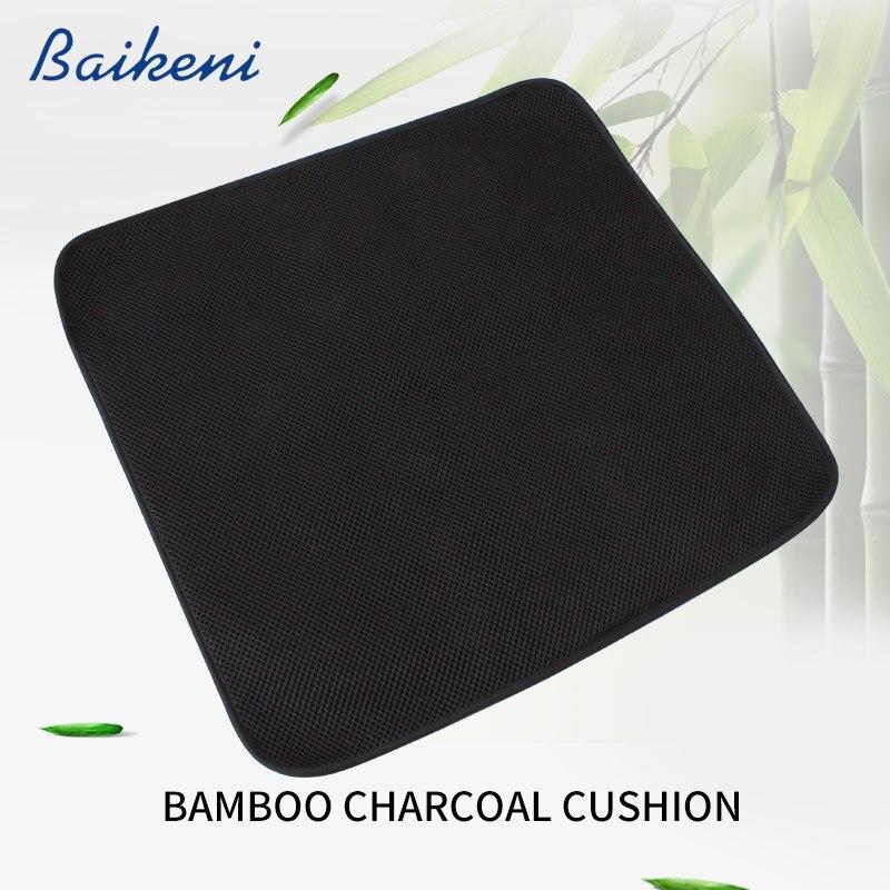 Cadeira de carvão de bambu almofada do assento verão refrigeração respirável esteira ventilar sofá coussin carro escritório em casa fina almofadas cojines