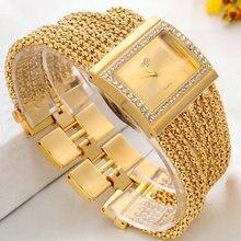2016 New watch women fashion luxury wristwatches ladies gold steel bracelet quartz watches diamond rhinestone relogio