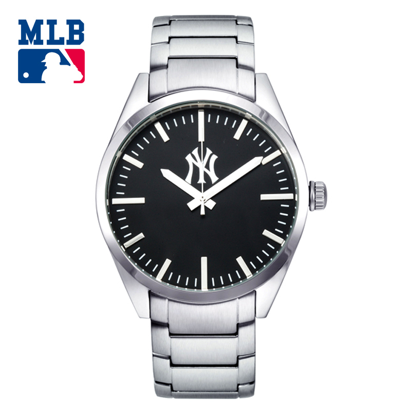 MLB business sport stainless steel watchbands quartz  men's watches waterproof with clock boxSD003