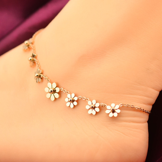 Flor da forma pulseira de pé