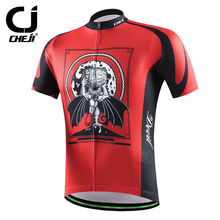 Devil Cycling Jerseys Short Sleeve Red Cheji Men Cycling Shirts Anti-slip Bicycle MTB Jackets Antislip S-XXXL 2017