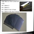 10 unids/lote Original LCD Película de La Luz Polarizada Polarización Polarizador Película para el iphone de Apple 4 4S/5 5S 5c/6 6 s/6 6 s plus