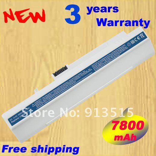 7800 мАч батарея для acer Aspire One 8,9 ''ZG5 KAV10 KAV60 A110 A150 10,1 D150 D250 P531H EM250 шлюза LT 11,6 . Белый