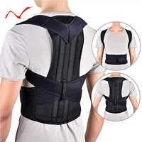 2019 Adjustable Black Back Posture Corrector Shoulder Lumbar Spine Brace Support Belt Health Care for Men Women Unisex