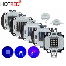 UV סגול LED אולטרה סגול נורות מנורת שבבי 365nm 375nm 380nm 385nm 395nm 400nm 405nm 3W 5W 10W 20W 30W 50W 100W גבוהה כוח אור