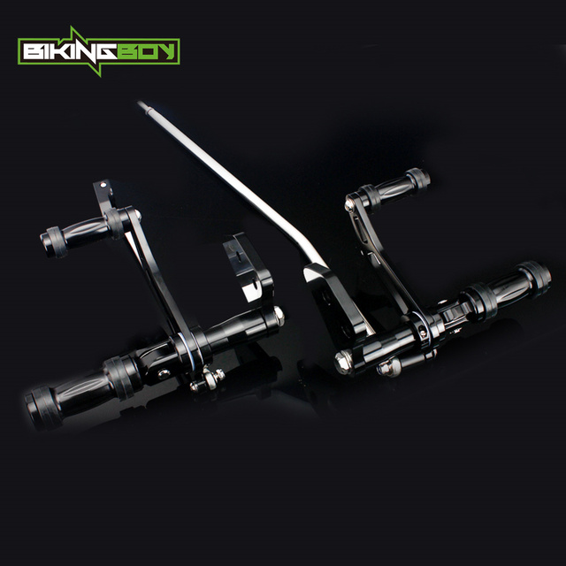 BIKINGBOY CNC ビレットアルミフォワードコントロール FXDL 用 00 16 ストリートボブ FXDB ダイナスーパーグライド 00 15 14 13 12