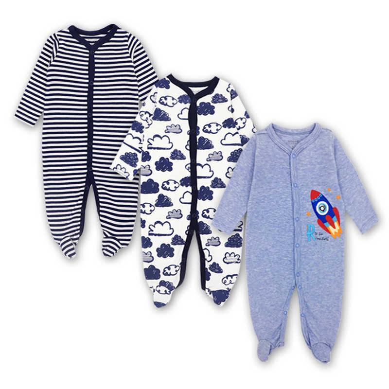 bbe2586c044 ... Newborn Baby Boys Girls Clothes Babies Long Sleeve Sleepwear Pajamas  Cute Cartoon Print Infant Romper Jumpsuit ...