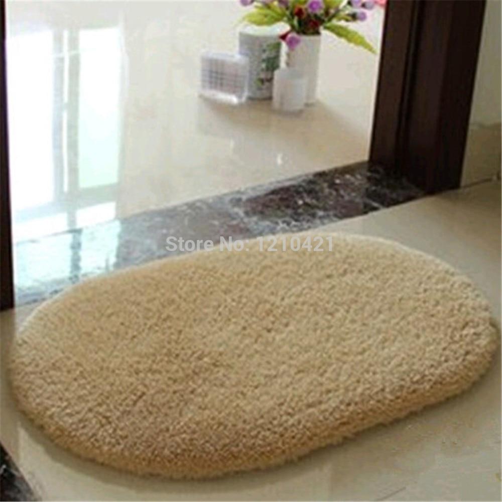 Floor mats super cheap - Free Shipping Super Soft Nonslip Microfiber Beijirong Ellipse Door Mat Floor Mat Bedroom Area Rug Carpet 40cm 60cm