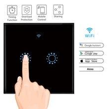 ЕС Стандартный WI-FI Беспроводной приложение Управление стены сенсорный выключатель дистанционный переключатель освещения Панель Wall интеллектуальный коммутатор 1/2/3 Gang