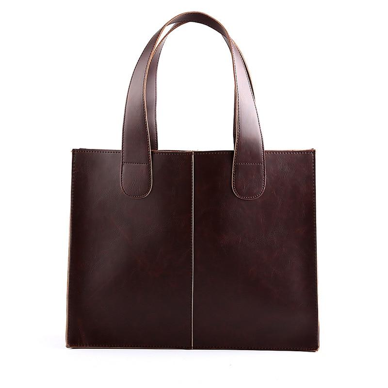 New PU leather briefcase portfolio men shoulder bag laptop leather crossbody handbags tote bags men purse