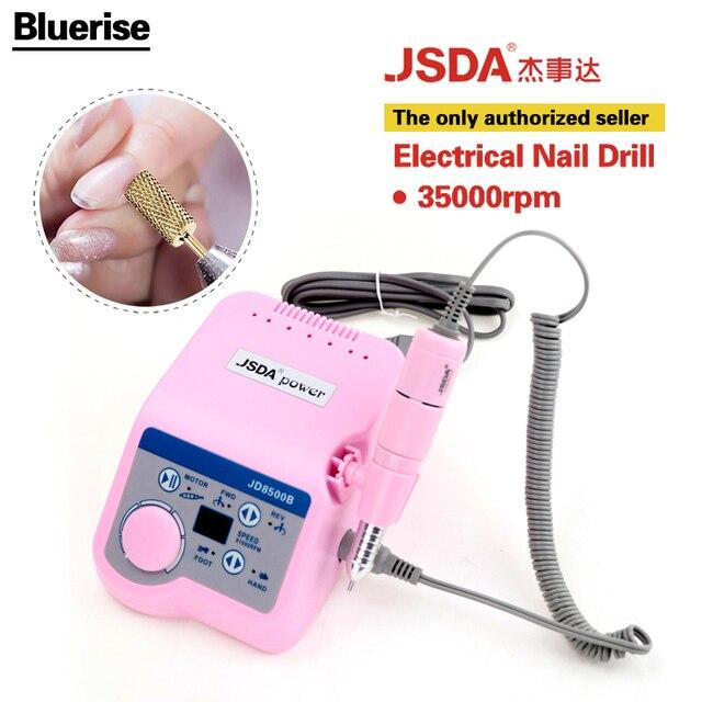 JSDA 35000 ОБ./МИН. 65 Вт Розовый Ногтей Дрель Ногтей Оборудование для маникюра Инструменты Для Педикюра Акриловые Серый Электрические Ногтей Дрель Pen Машина набор