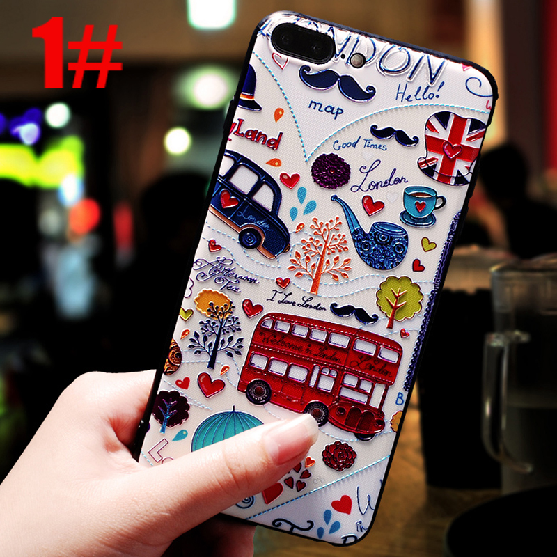 luxury flower phone back copy housing etui capinha coque cover case for iphone 7 7s s silicone silicon for apple accessories i in Half wrapped Cases from Cellphones Telecommunications