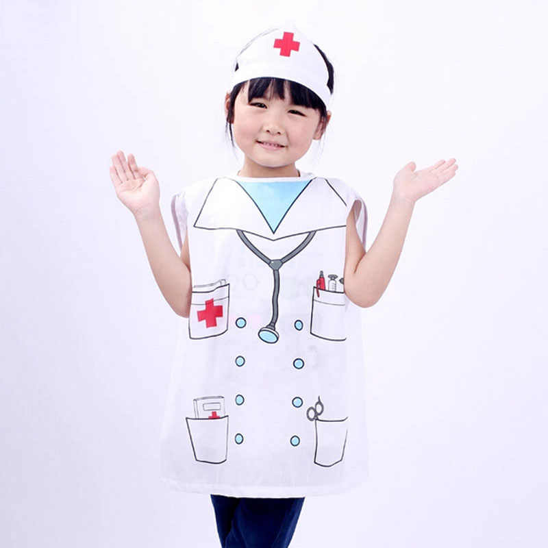 10f9bcd6baa2f ... Kid Halloween Costume Children Role Play Clothes Kid Cosplay Clothing  Set Nurse Uniform Pirate Costume Cook ...