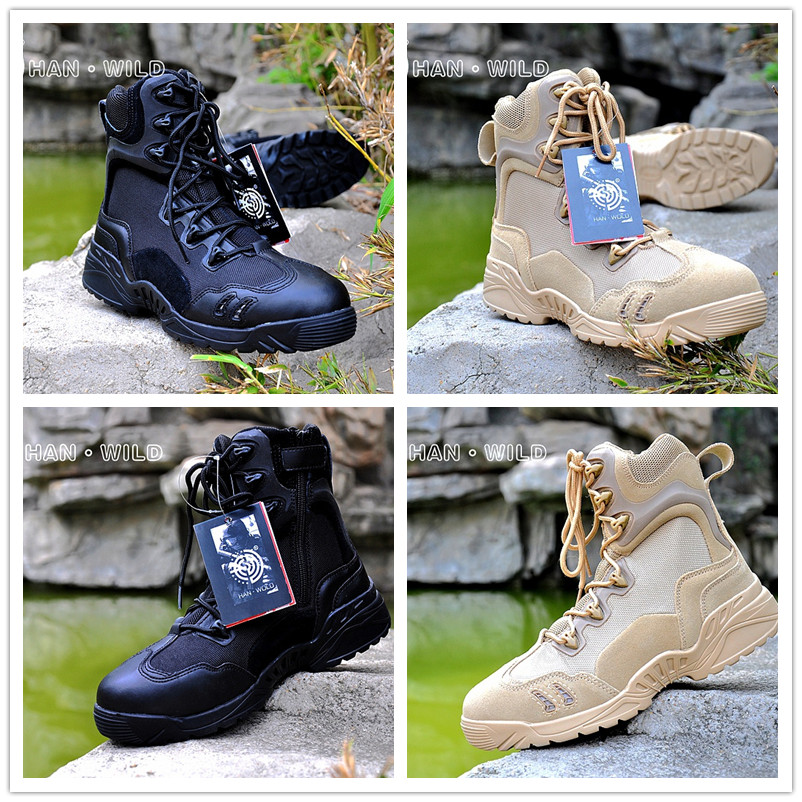 Breathable And Waterproof Military Tactical Boots Mountain Climbing Hiking Hunting Boots Outdoor Sport Shoes Men Leather Sneaker 2017 tba men s shoes hunting mountain shoes lace up suede leather martin boots breathable outdoor hiking shoes t5983
