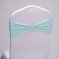Spandex Wedding Chair Sashes Band Bow Lycra Royal Bows Banquet Party Event Xmas Decorno Need Tied