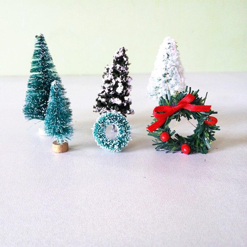Guirlandas de natal Árvore Fada Do Jardim Decoração de Casa Artesanato Mini Casa De Bonecas Em Miniatura Micro Decor DIY Transporte Da Gota Presente
