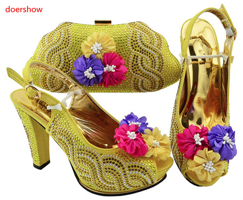doershow hot sellingItalian Shoes With Matching Bag Set Fashion Italy Shoes And Bag To Match African Women Shoe For party JZS1-5doershow hot sellingItalian Shoes With Matching Bag Set Fashion Italy Shoes And Bag To Match African Women Shoe For party JZS1-5
