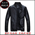 In the autumn of 2016 new men locomotive washed pu leather jacket collar cultivate one's morality leisure leather