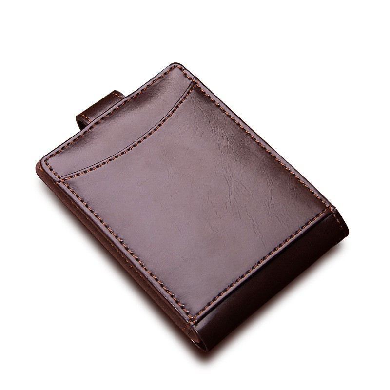 New Thin Mens Bifold Short Wallet Business PU Leather Card Holder Hasp Money Bag Casual Small Wallets Mini Purse