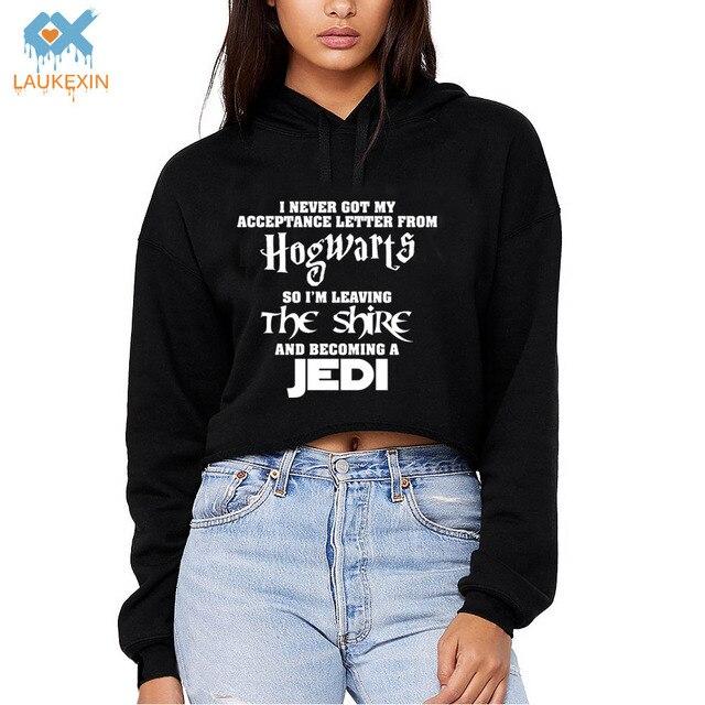 4002d52b4e4 Hogwarts Lord of the Rings JEDI Star wars Womens Long Sleeve Cropped Hoodie  The Hobbit Girls Crop Top Hoodies Fashion Sweatshirt