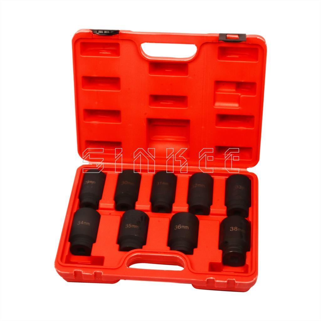 9pc Axle Nut Socket Set 1/2